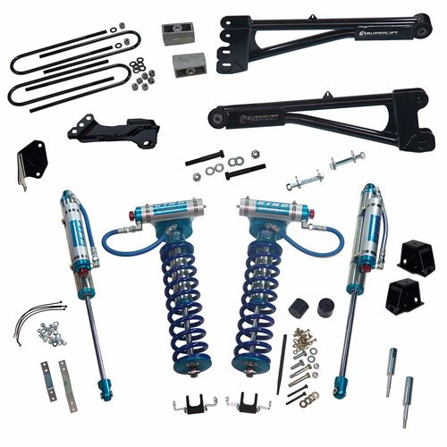 4in Ford Lift Kit | Replacement Radius Arms & King Coilovers Gallery