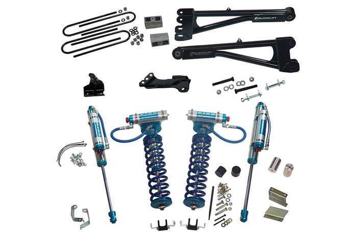 4in Ford Lift Kit | w/ Replacement Radius Arms & King Coilovers Gallery