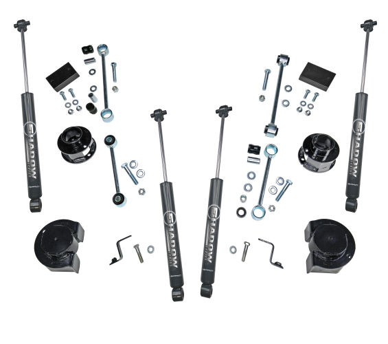 2.5 inch Spacer Kit 2018 & Newer Jeep Wrangler JL 2 and 4 Door w/ Shadow Series Shocks Gallery 1