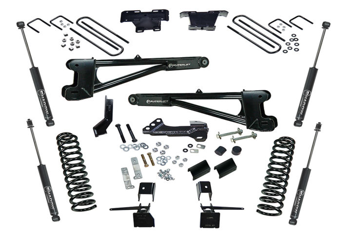 4in Ford Lift Kit |Diesel w/ Replacement Radius Arms Gallery 1
