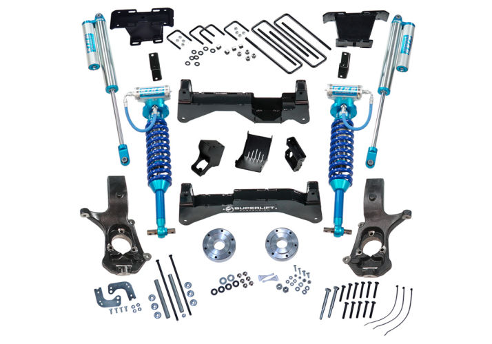8in Chevy/GMC Lift Kit | Cast Steel Control Arms w/ King Coilovers Gallery